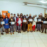 Se entregaron certificados a los asistentes al ciclo de formación sindical