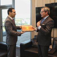 El embajador de Alemania visitó a Valdés, luego de conocer una de las maravillas correntinas