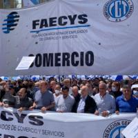 """Caravana de la CGT: Cavalieri convocó a """"trabajar unidos y con responsabilidad"""" y reivindicó la labor de los mercantiles durante la pandemia"""