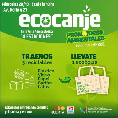 Ecocanje: habrá una jornada de reciclaje en nuestro distrito