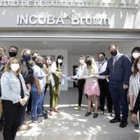 """Cascallares inauguró """"Incuba Brown"""", el primer centro de desarrollo productivo de la región"""