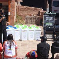 Entregan equipamiento. Inician experiencia piloto de separación de residuos en comunidades del Zenta y Uquía