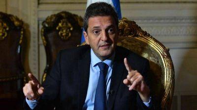 Massa recorrió las obras ferroviarias de Gregorio de Laferrere