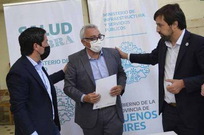 Zamora, Kreplak y Nardini acordaron avanzar en las obras de refacción del Hospital Provincial de General Pacheco