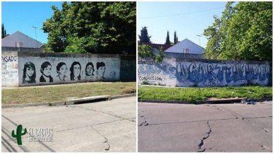Morón: El macrismo tapó un mural en homenaje a las víctimas de La Noche de los Lápices