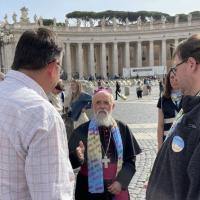 El Papa con luteranos: