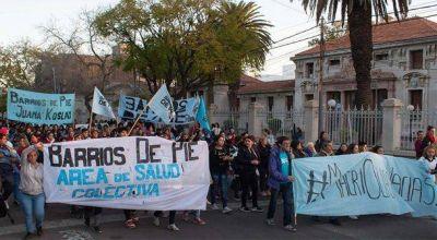 Barrios de Pie respaldó la obra de Uñac