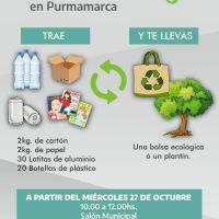 Ecocanje en Purmamarca: entregarán plantines a cambio de residuos reciclables