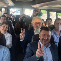 Para enfrentar rumores de ruptura, los senadores peronistas se mostraron unidos en el homenaje a Kirchner