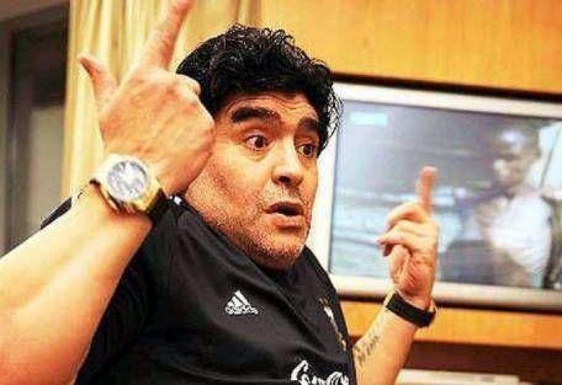 """Maradona visitó a Cáceres y estalló de bronca: """"Acá nadie hace nada"""""""