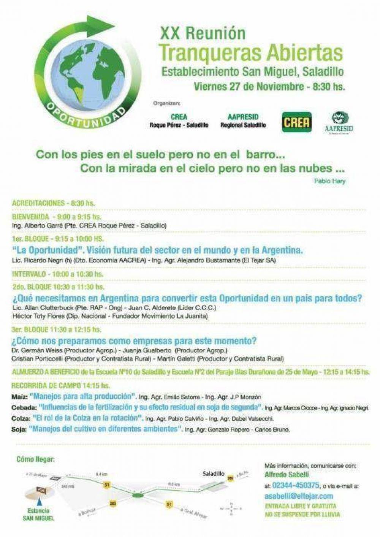 Grupo CREA organiza Jornada Tranqueras abiertas