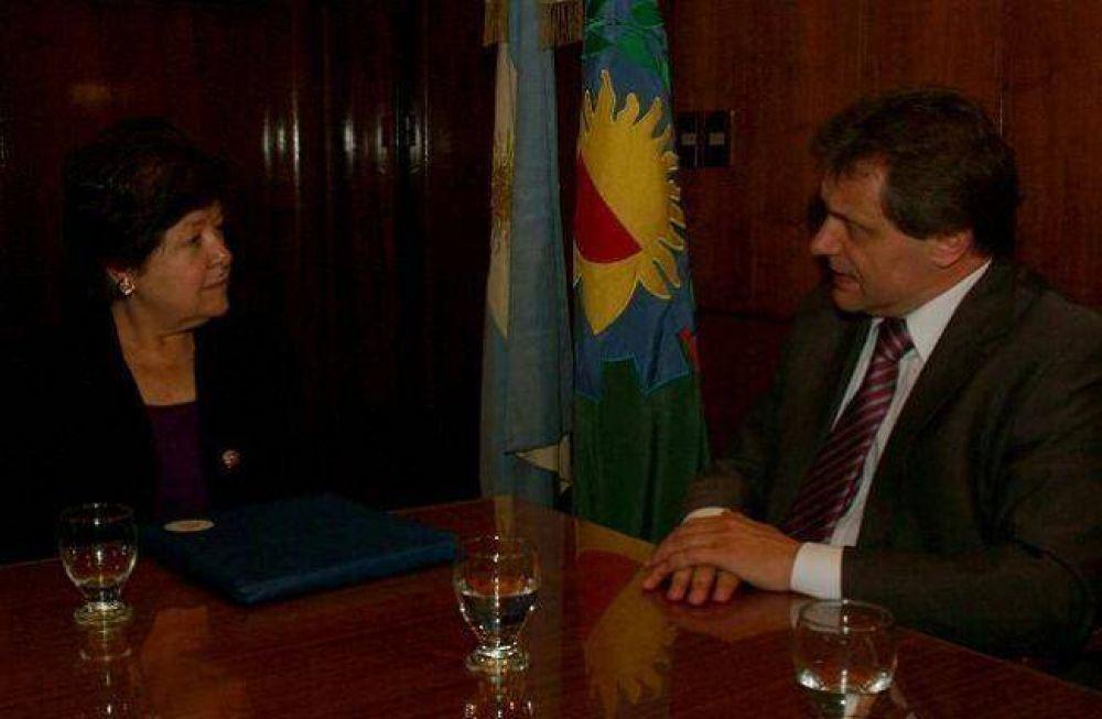 Pulti se reunió con la Embajadora de EE.UU.