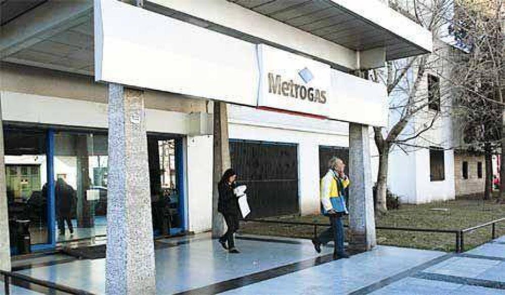 Metrogas, a juicio para que suban las tarifas