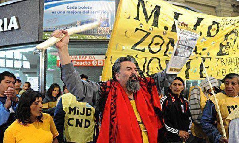 El piquetero Castells amenazó con realizar nueva marcha en la Ciudad