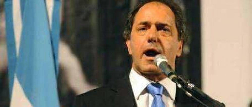 """Scioli dice que """"el camino es el orden, la firmeza, el rigor"""""""