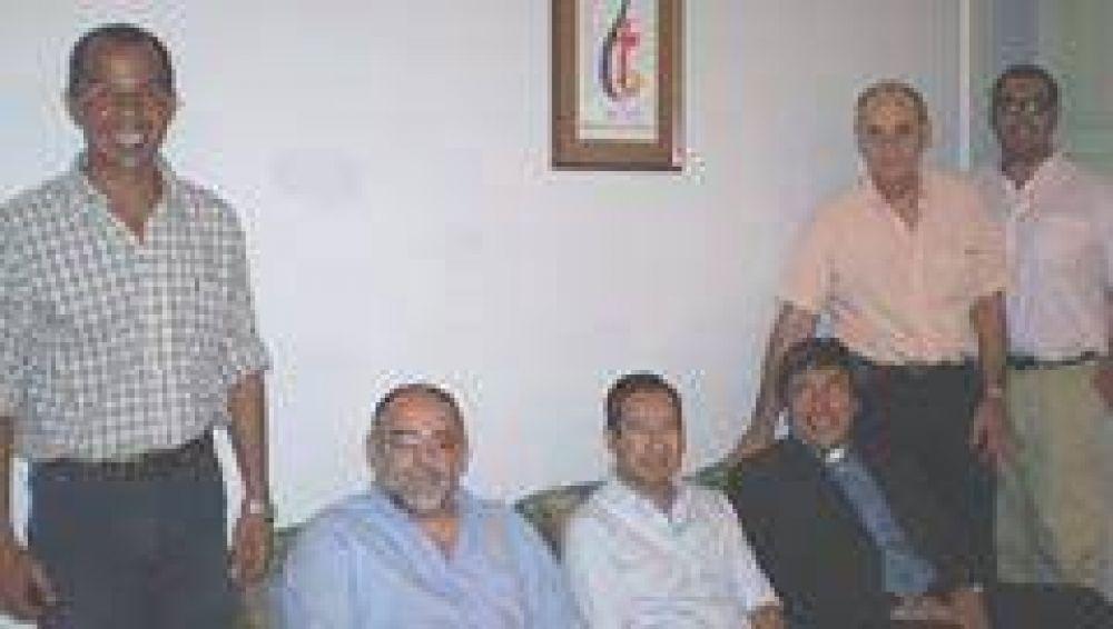 Ricardo Colombi visitó a Monseñor Stanovnik
