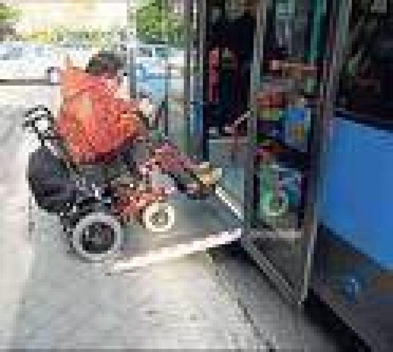 Los colectivos deberán publicar frecuencias de unidades para discapacitados