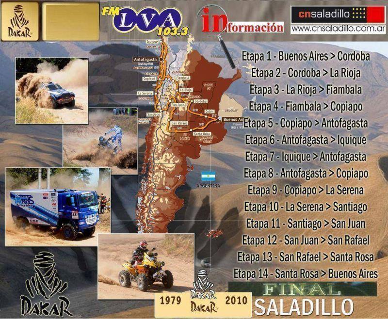Saladillo será sede de la etapa final del Rally Dakar edición 2010