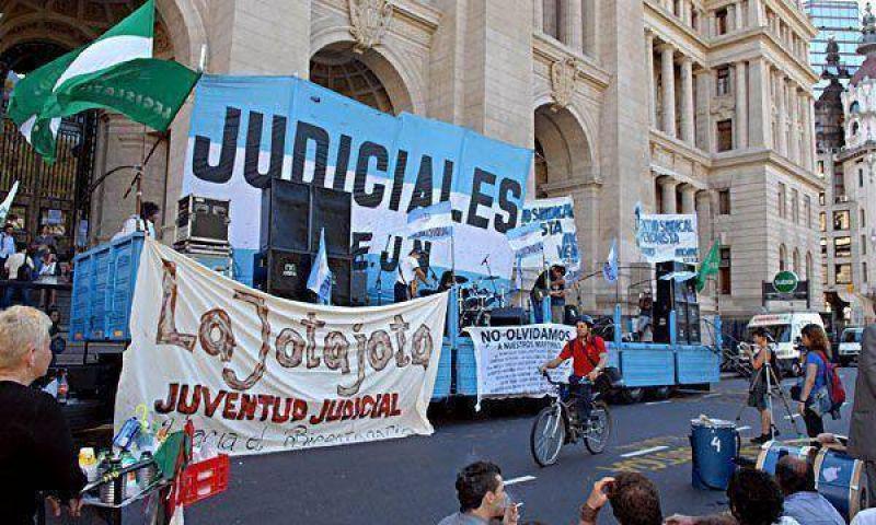 Piumato ratific� el paro de 24 horas del gremio de los judiciales