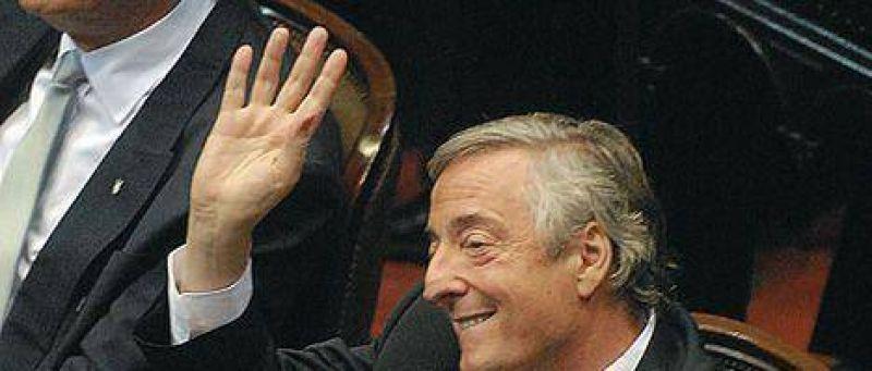 Kirchner asumi� como diputado y no volvi� al Congreso