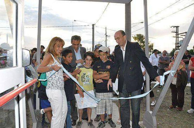 Inauguraron el servicio territorial: es el primer desafío, político y social, para Eduardo Rodríguez