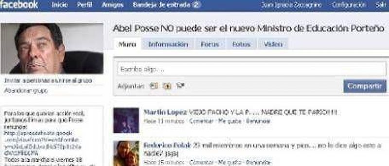 "Posse ya cosechó 22.500 ""enemigos"" en Facebook"