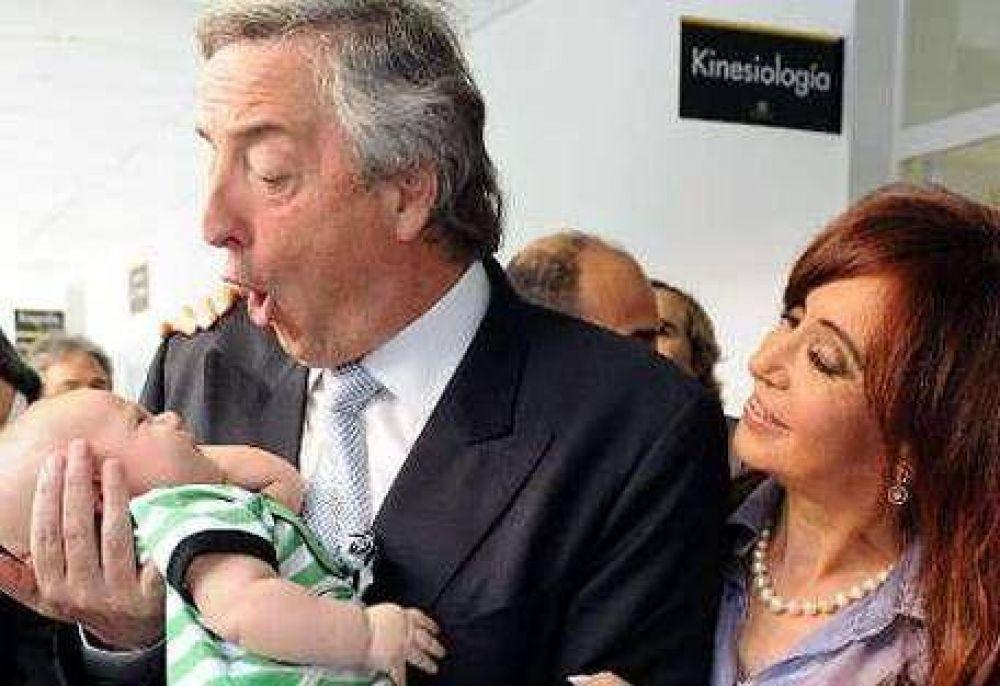 Kirchner hizo campaña en triple turno