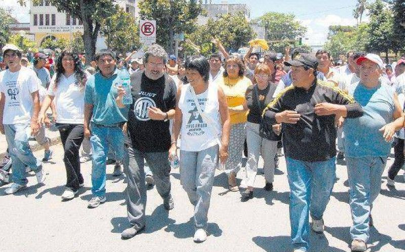 Incidentes en una protesta en Jujuy