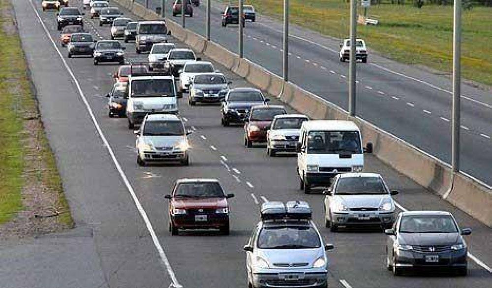Multarán al 50% de los automovilistas de la ruta 2