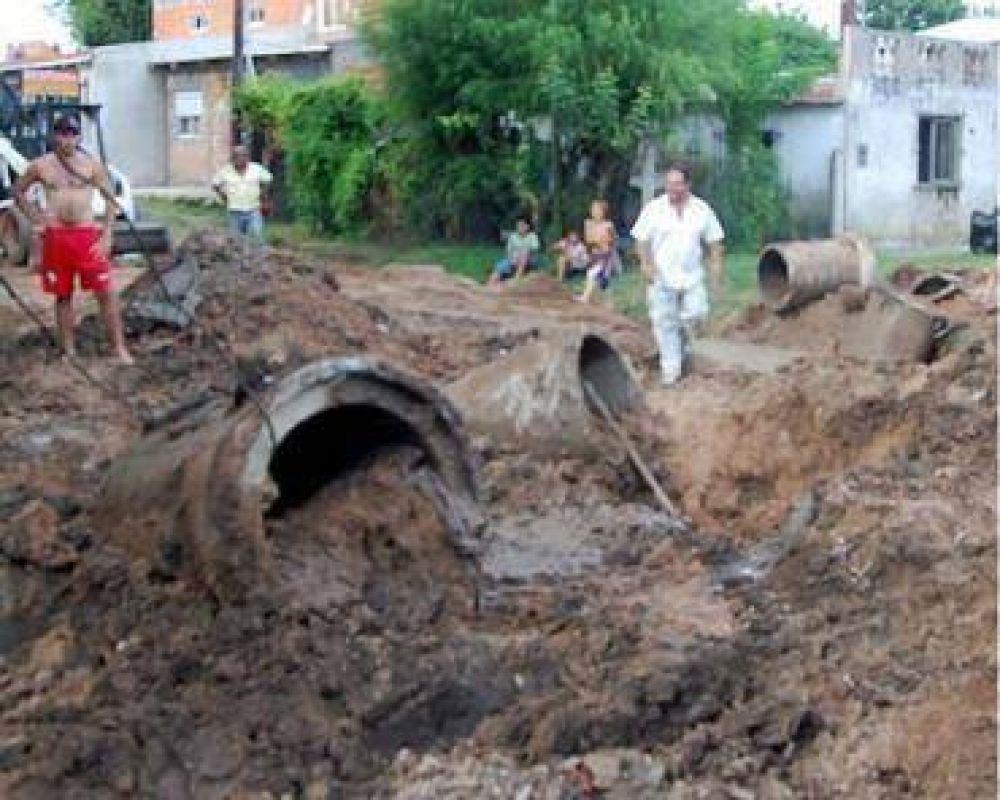 Arreglo de calles en barrio La Quilmes