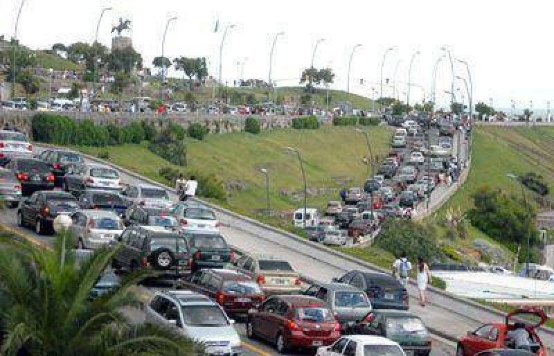Circulan más de 350 mil vehículos por las calles de Mar del Plata