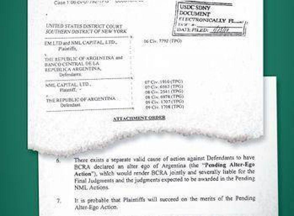 Juez podría liberar uso de la cuenta del BCRA en Nueva York