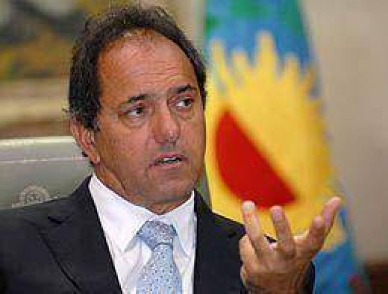 Scioli suspendió por un año las ejecuciones hipotecarias