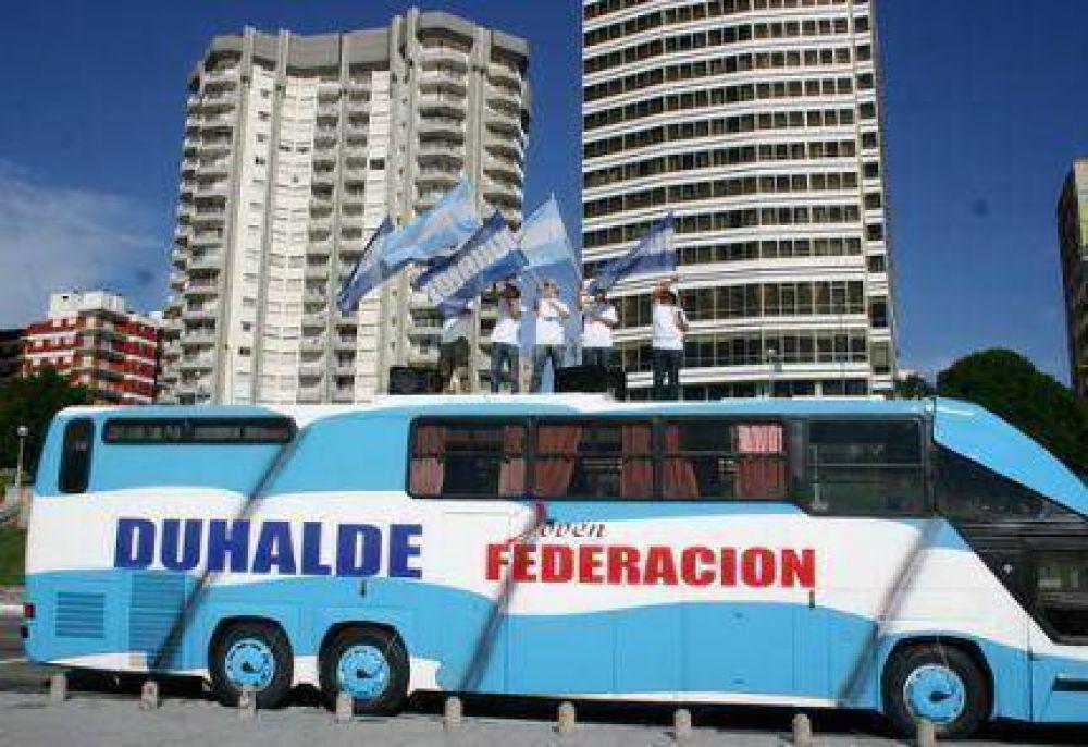 """Este martes comienza la campaña """"Duhalde 2011"""" en la Costa Atlántica"""