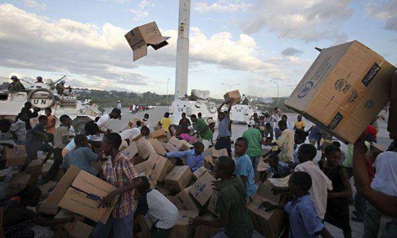 La ONU reclama m�s cascos azules luego del devastador terremoto