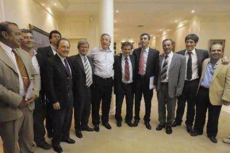 Gustavo Pulti viajó a Capital para darle su apoyo (Néstor mediante) a Cristina Kirchner