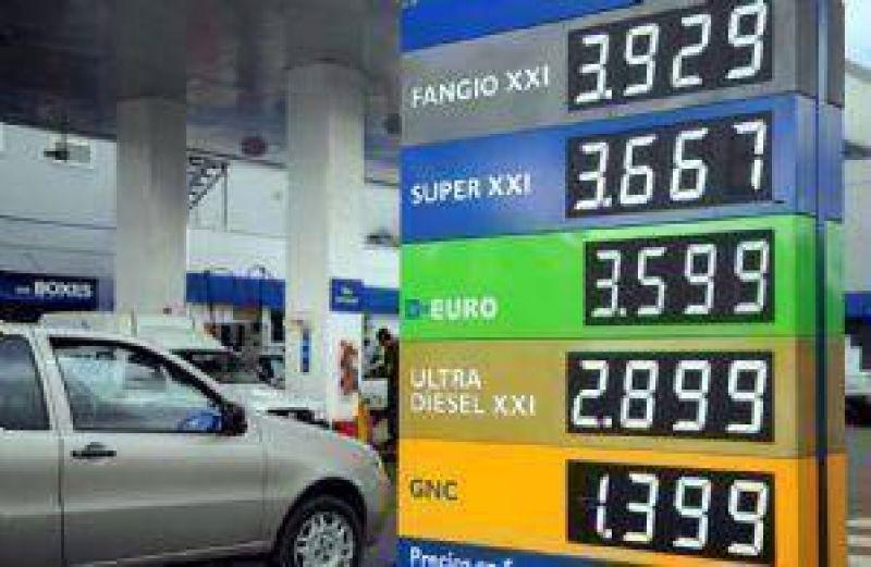 En dos a�os los combustibles l�quidos subieron menos que la inflaci�n real
