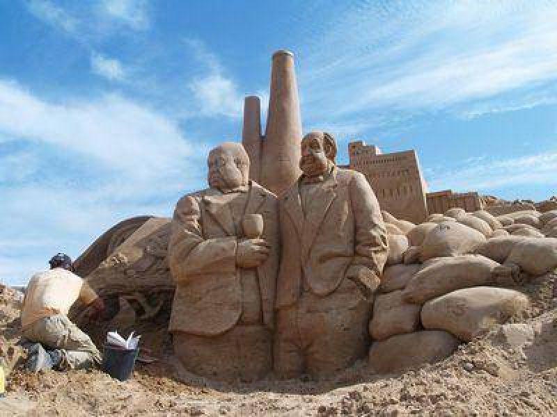 Preparan en la Bristol una gigantesca escultura de arena