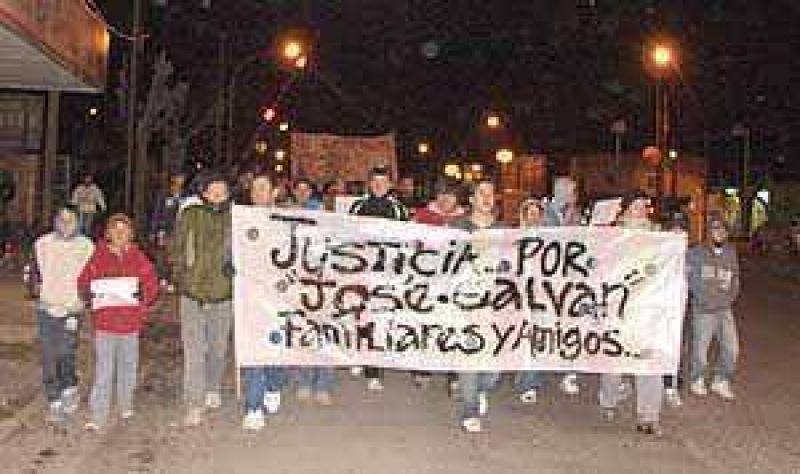 Nueva marcha a cuatro meses de la muerte de José María Galván