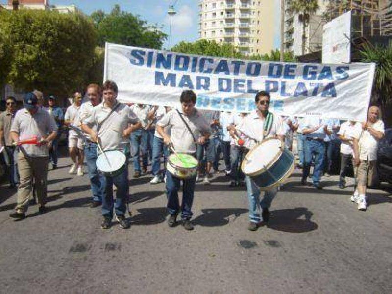 Jornada de movilización y de paro de trabajadores de Camuzzi Gas Pampeana