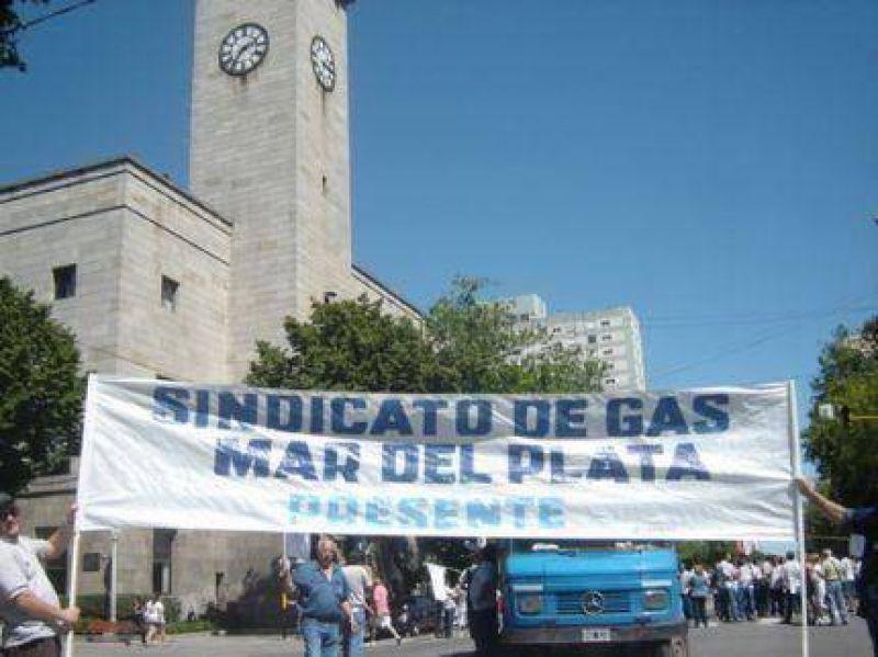 Nueva marcha del Sindicato de Gas de Mar del Plata, ahora con cortes de calles
