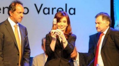 La fórmula bonaerense Pereyra se mostró con Cristina y suena como vice de Scioli