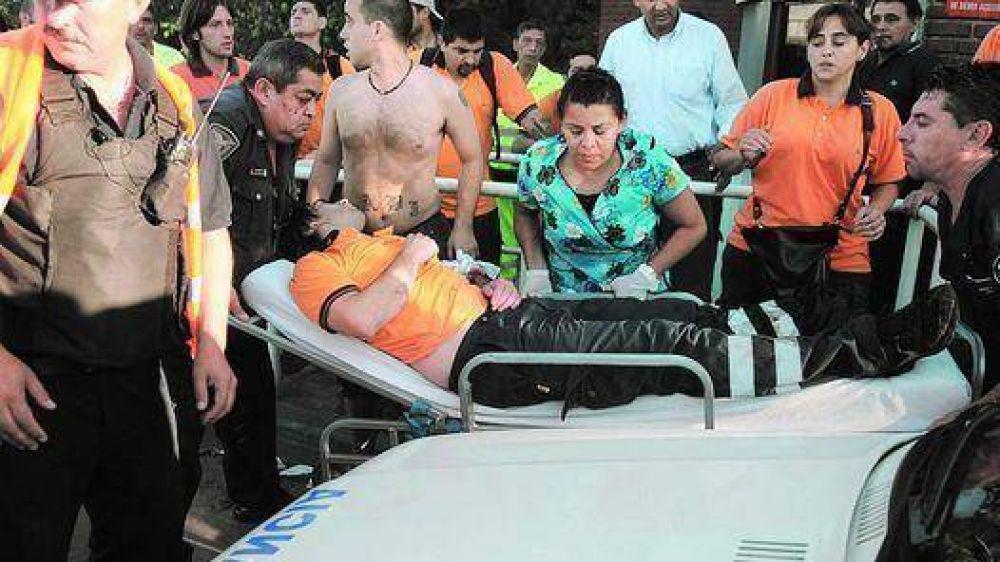 Dos heridos en una pelea de sindicalistas en un peaje porteño