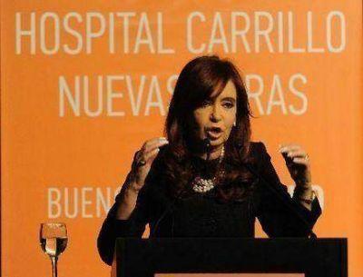 La Presidenta inauguró obras en el hospital Carrillo de Tres de Febrero