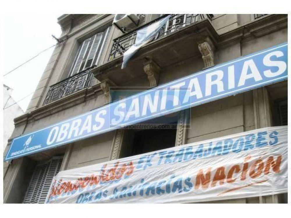 """El sindicato de Obras Sanitarias reclamó una """"urgente"""" recomposición salarial"""