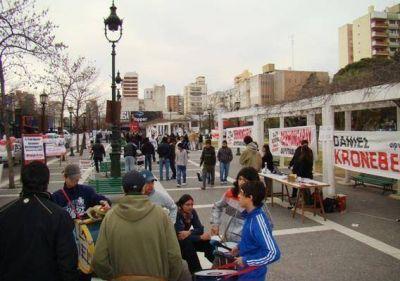 El centro de Santa Rosa, copado por la campaña