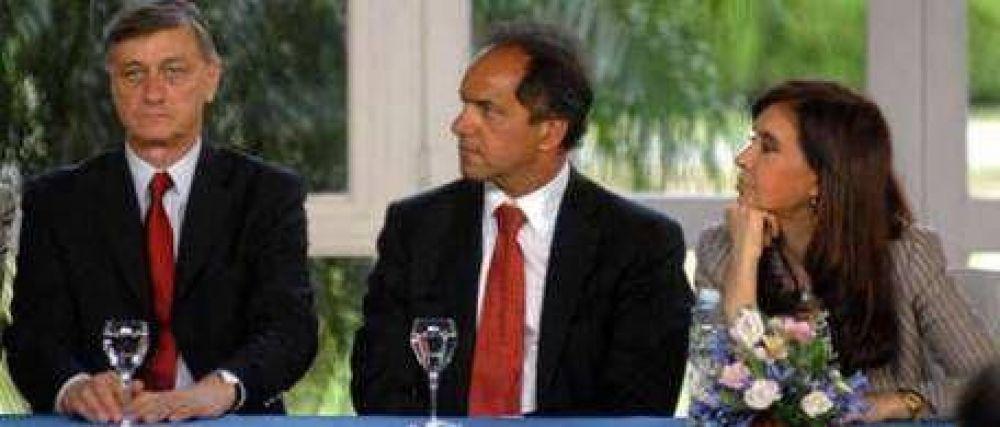 CFK (con Binner) anunció obras