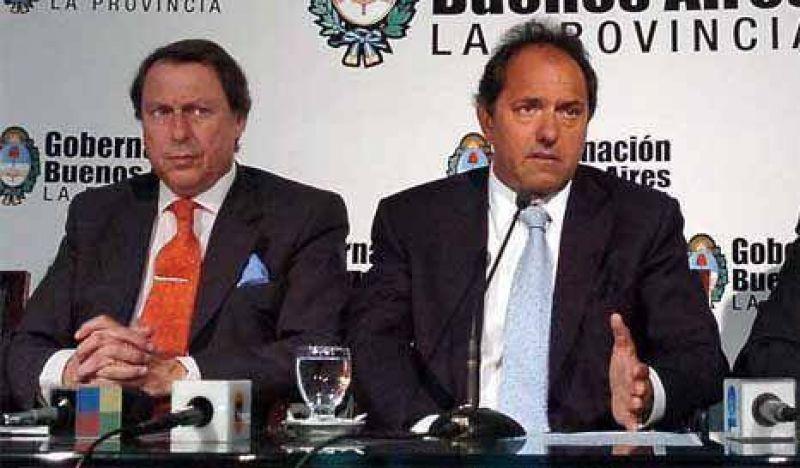 Scioli y su ministro de Justicia exigen un justo reparto de coparticipación