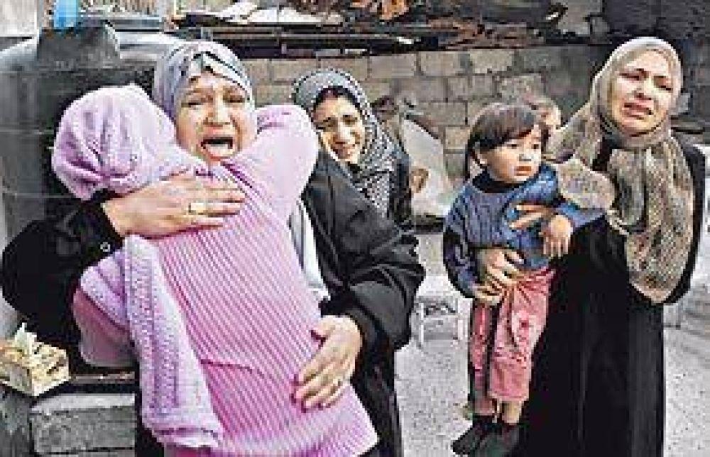La mitad de los 700 muertos en Gaza son mujeres y niños