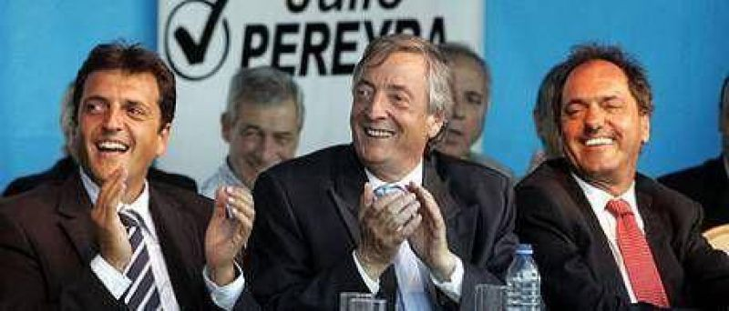 Sin Cristina, N�stor Kirchner inici� la campa�a electoral del PJ en Florencio Varela